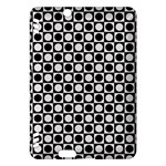 Modern Dots In Squares Mosaic Black White Kindle Fire HDX Hardshell Case
