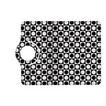 Modern Dots In Squares Mosaic Black White Kindle Fire HD (2013) Flip 360 Case