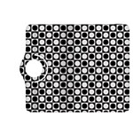 Modern Dots In Squares Mosaic Black White Kindle Fire HDX 8.9  Flip 360 Case