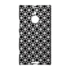 Modern Dots In Squares Mosaic Black White Nokia Lumia 1520 by EDDArt