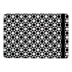 Modern Dots In Squares Mosaic Black White Samsung Galaxy Tab Pro 10 1  Flip Case by EDDArt