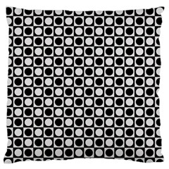 Modern Dots In Squares Mosaic Black White Standard Flano Cushion Case (two Sides) by EDDArt