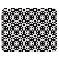 Modern Dots In Squares Mosaic Black White Double Sided Flano Blanket (medium)  by EDDArt