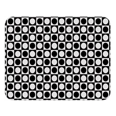 Modern Dots In Squares Mosaic Black White Double Sided Flano Blanket (large)  by EDDArt