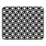 Modern Dots In Squares Mosaic Black White Double Sided Flano Blanket (Large)