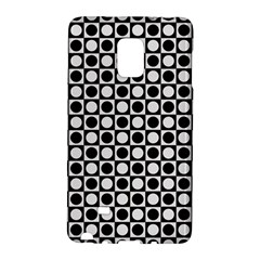 Modern Dots In Squares Mosaic Black White Galaxy Note Edge by EDDArt