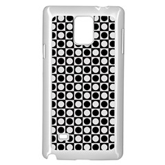Modern Dots In Squares Mosaic Black White Samsung Galaxy Note 4 Case (white) by EDDArt