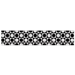 Modern Dots In Squares Mosaic Black White Flano Scarf (small) by EDDArt