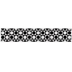 Modern Dots In Squares Mosaic Black White Flano Scarf (large) by EDDArt