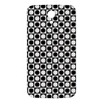 Modern Dots In Squares Mosaic Black White Samsung Galaxy Mega I9200 Hardshell Back Case