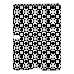 Modern Dots In Squares Mosaic Black White Samsung Galaxy Tab S (10 5 ) Hardshell Case  by EDDArt