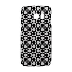 Modern Dots In Squares Mosaic Black White Galaxy S6 Edge by EDDArt