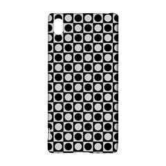 Modern Dots In Squares Mosaic Black White Sony Xperia Z3+ by EDDArt