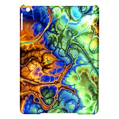 Abstract Fractal Batik Art Green Blue Brown Ipad Air Hardshell Cases by EDDArt