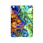 Abstract Fractal Batik Art Green Blue Brown iPad Mini 2 Hardshell Cases