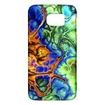 Abstract Fractal Batik Art Green Blue Brown Galaxy S6