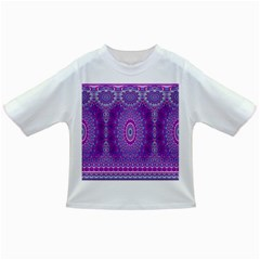 India Ornaments Mandala Pillar Blue Violet Infant/toddler T Shirts by EDDArt