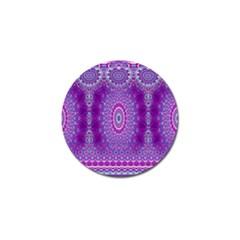 India Ornaments Mandala Pillar Blue Violet Golf Ball Marker (4 Pack) by EDDArt