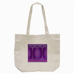 India Ornaments Mandala Pillar Blue Violet Tote Bag (cream) by EDDArt