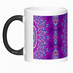 India Ornaments Mandala Pillar Blue Violet Morph Mugs by EDDArt