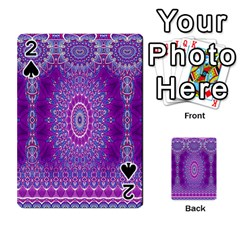 India Ornaments Mandala Pillar Blue Violet Playing Cards 54 Designs  by EDDArt
