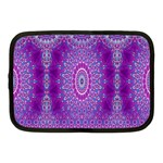 India Ornaments Mandala Pillar Blue Violet Netbook Case (Medium)