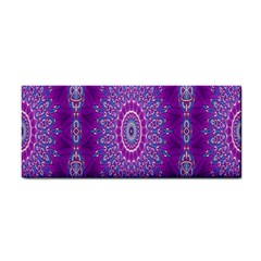 India Ornaments Mandala Pillar Blue Violet Hand Towel by EDDArt