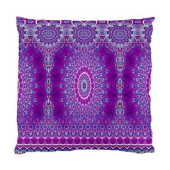 India Ornaments Mandala Pillar Blue Violet Standard Cushion Case (two Sides) by EDDArt