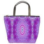 India Ornaments Mandala Pillar Blue Violet Bucket Bags
