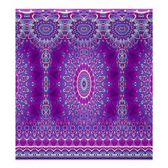 India Ornaments Mandala Pillar Blue Violet Shower Curtain 66  X 72  (large)  by EDDArt