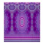 India Ornaments Mandala Pillar Blue Violet Shower Curtain 66  x 72  (Large)