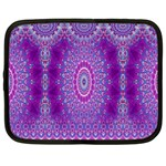India Ornaments Mandala Pillar Blue Violet Netbook Case (XXL)