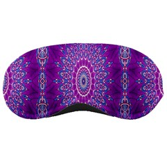 India Ornaments Mandala Pillar Blue Violet Sleeping Masks by EDDArt