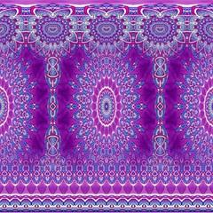 India Ornaments Mandala Pillar Blue Violet Magic Photo Cubes by EDDArt