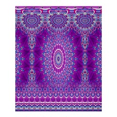 India Ornaments Mandala Pillar Blue Violet Shower Curtain 60  X 72  (medium)  by EDDArt