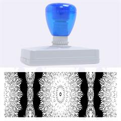 India Ornaments Mandala Pillar Blue Violet Rubber Address Stamps (xl) by EDDArt