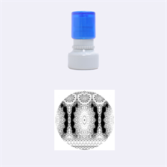 India Ornaments Mandala Pillar Blue Violet Rubber Round Stamps (small) by EDDArt