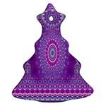 India Ornaments Mandala Pillar Blue Violet Ornament (Christmas Tree)