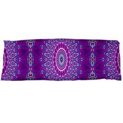 India Ornaments Mandala Pillar Blue Violet Body Pillow Case Dakimakura (two Sides) by EDDArt
