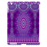India Ornaments Mandala Pillar Blue Violet Apple iPad 3/4 Hardshell Case (Compatible with Smart Cover)
