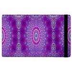 India Ornaments Mandala Pillar Blue Violet Apple iPad 3/4 Flip Case
