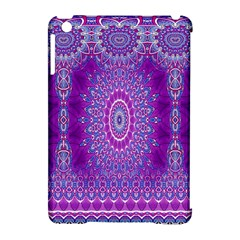 India Ornaments Mandala Pillar Blue Violet Apple Ipad Mini Hardshell Case (compatible With Smart Cover) by EDDArt
