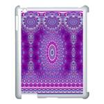 India Ornaments Mandala Pillar Blue Violet Apple iPad 3/4 Case (White)
