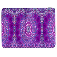India Ornaments Mandala Pillar Blue Violet Samsung Galaxy Tab 7  P1000 Flip Case by EDDArt