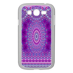 India Ornaments Mandala Pillar Blue Violet Samsung Galaxy Grand Duos I9082 Case (white) by EDDArt