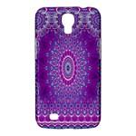 India Ornaments Mandala Pillar Blue Violet Samsung Galaxy Mega 6.3  I9200 Hardshell Case