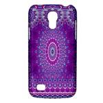 India Ornaments Mandala Pillar Blue Violet Galaxy S4 Mini