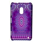 India Ornaments Mandala Pillar Blue Violet Nokia Lumia 620