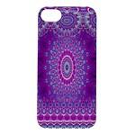 India Ornaments Mandala Pillar Blue Violet Apple iPhone 5S/ SE Hardshell Case