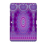 India Ornaments Mandala Pillar Blue Violet Samsung Galaxy Tab 2 (10.1 ) P5100 Hardshell Case
